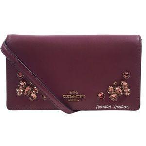 COACH Phone Crossbody Handbag, Crystal Appliqué